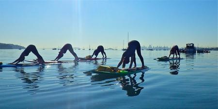 Sup Yoga Planche Paddle Mer